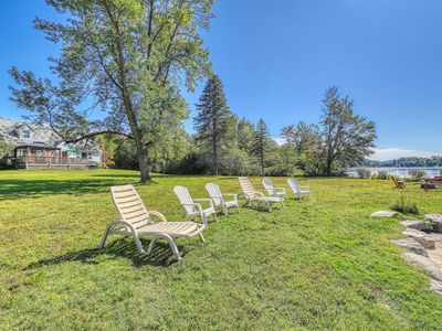 Photo for NEW LISTING! Lakefront house w/ 275 feet of waterfront, enclosed porch, firepit