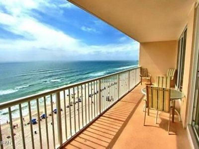 Photo for 2 BR / 2 BA beach front condo, Sleeps 6, Includes beach chairs, great amenities