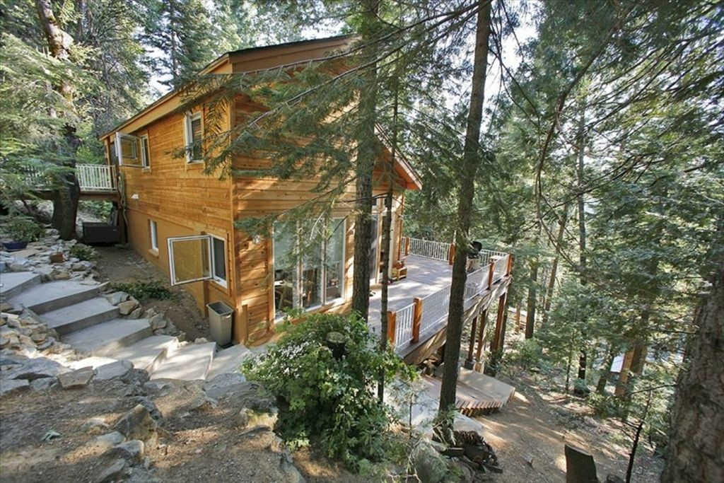 The Hummingbird Raven House Is Surrounded By Forest.