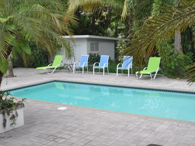 12x24 ' private pool with ample outdoor seating