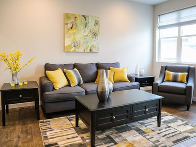 Photo for Luxury NEW 3BR/2-1/2 BA townhome w/ 2 car gar. Walk to dining and shopping!