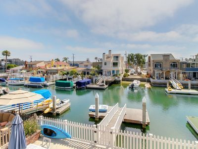 Photo for Second-story, waterfront rental w/ deck and Balboa Grand Canal access