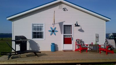 Photo for Enjoy the stunning views from the Decks of Forget Me Not Cottage in Darnley, PEI