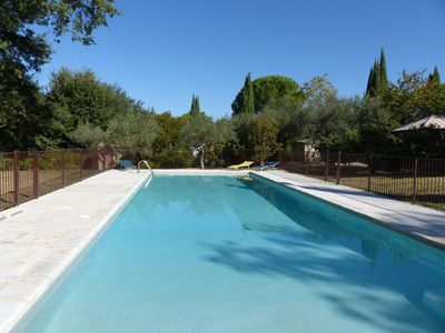 Photo for Paradise between Nyons and Vaison, Mont Ventoux, quiet swimming pool activity nature