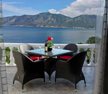 Photo for Luxury Penthouse Apartment with South Facing Views over Kotor Bay