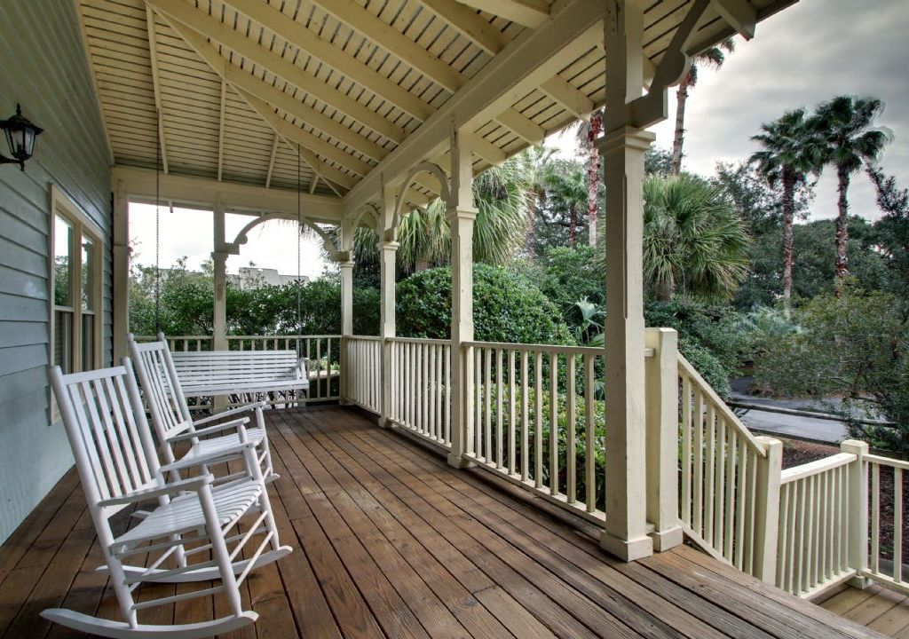 Relax in the rocking chairs on the