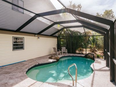 Photo for Florida Stilt Home with Pool, Screened Lanai, Upper Deck! Close to Beach