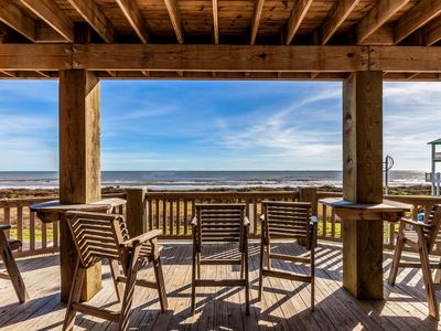 Photo for Amazing View, Gorgeous Beachfront, Huge Deck, Luxury Retreat - Sleeps 14,