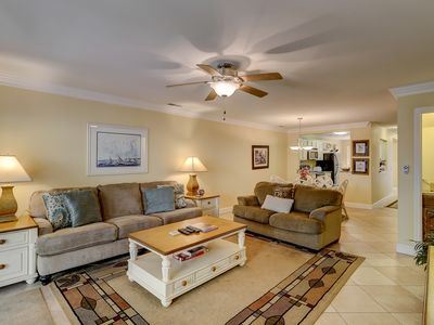 Photo for Beautifully remodeled villa w/ porch and balconies!