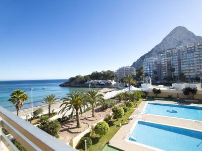 Photo for 3 bedroom Apartment, sleeps 6 with Pool, Air Con and Walk to Beach & Shops