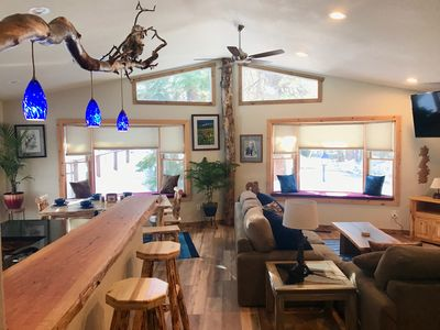 Photo for NEW LISTING! Rustic,Cozy..Great location! Renovated, Unique,Modern, NEW hot tub!