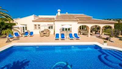 Photo for Luxury 4 Bedroom Villa with Large Private Pool, Wi-Fi/ UK TV/ BBQ