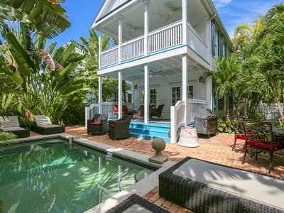 Photo for Dog-friendly home w/ private pool & space to lounge - walk to everything!