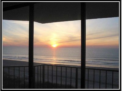 Photo for Ocean Front Condo just feet from the beach with spectacular views