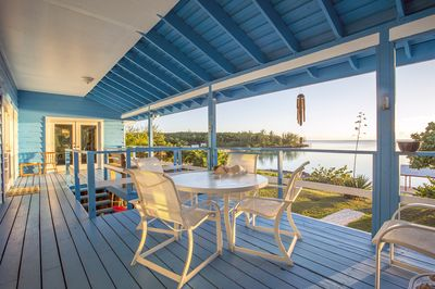 Covered porch with spectacular views of the Caribbean
