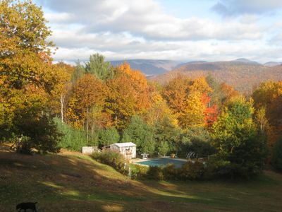 Fall at  the studio looks like this! Amazing views from your deck/enjoy nature