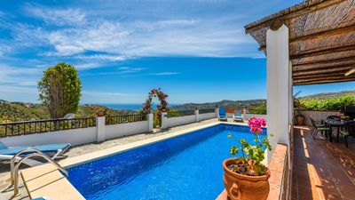 Photo for Charming holiday villa in Frigiliana with spectacular sea views