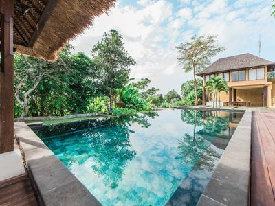 Photo for Family pool villa in 2000sqm Canggu, spacious bedrooms 50-70sq.m., villa staff