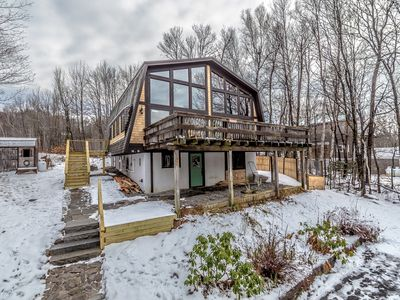 Photo for Timber frame chalet with Mt. Washington, Black Mountain & Doublehead views