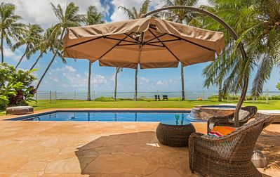 Photo for Paradise Beach Estate | Oceanfront | Private Pool & Hot Tub | Concierge Services
