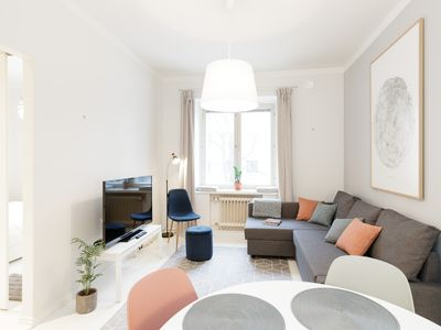 Photo for Stylish flat in hip neighborhood 3 min from Metro