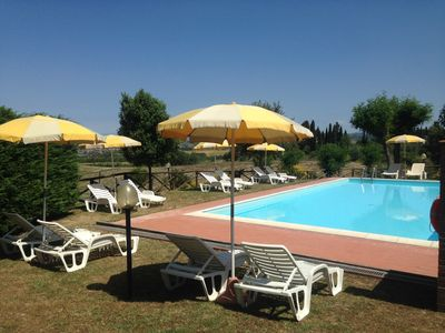 Photo for Holiday Apartment La Fornace - Rent a villa with pool in the heart of Tuscany