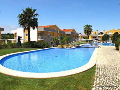 Photo for Cascais Garden Apartment - In beautiful luxury condominium with large pools