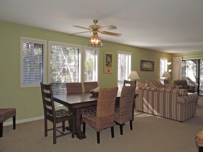 Photo for Short walk to golf courses, pool and beach!