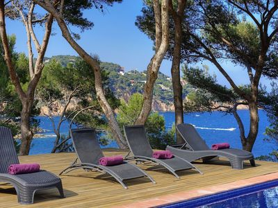 Photo for LA PERICA-Villa with private pool on the sea front-Tamariu-Costa Brava
