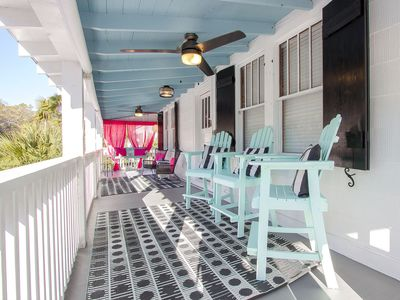 Wish Upon a Starfish - Front Porch - Top floor entry to Cottage