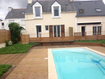 Photo for 2 completely renovated beachfront holiday homes with heated pool