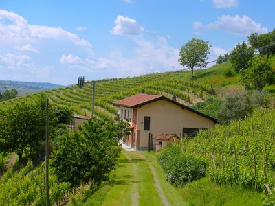 Photo for FARMHOUSE IN THE MIDDLE OF THE VINEYARDS IN NIZZA MONFERRATO