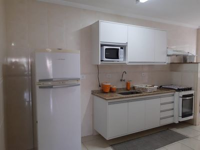 Photo for Thel Ubatuba - Apt 105 / B (2 bedrooms w / air, 80m from the beach, barbecue on the balcony)