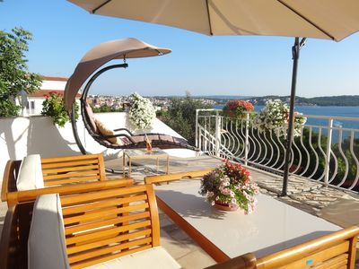 Photo for Trogir Yellow House A1, Fantastic Sea View, big private terrace, close to beach