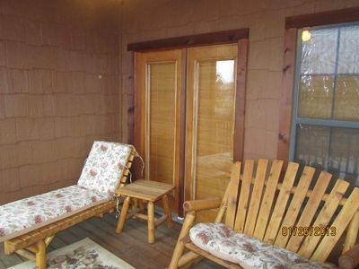Back deck off the dining room