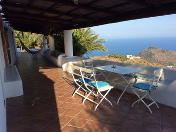 Filicudi Large country house in Aeolian style with panoramic view
