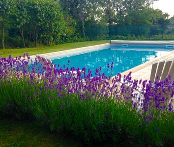 Photo for Gite Noisette a stylish gite with pool, overlooking the village of Bournazel