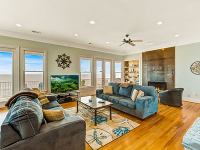 Photo for Dog-friendly oceanfront home w/ hot tub & deck for events - close to parks!