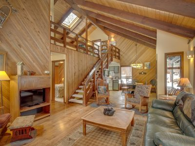 Photo for NEW LISTING! Dog-friendly cabin w/ private hot tub, shared pool, & tennis courts