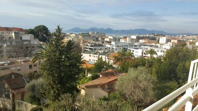 Photo for CANNES MONTFLEURY, 48 sqm,  with a terasse, facing a private parc and sea