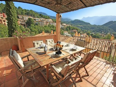 Photo for Nice 3 bedroom/2 bathroom duplex in Port de Soller with pool and wifi.