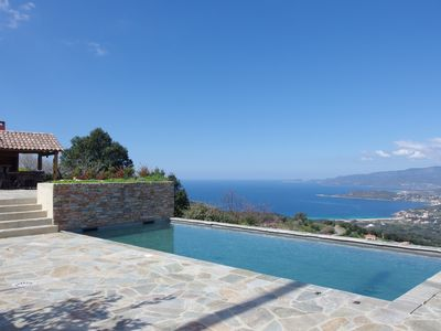 Photo for New house panoramic sea and mountain views, heated pool