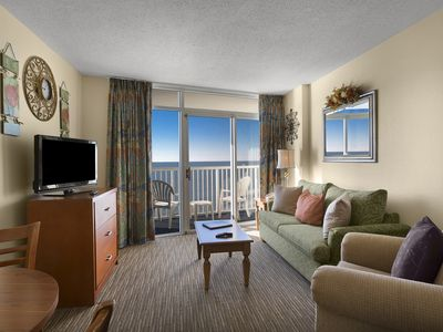 Photo for One Bedroom King w/ Great Oceanfront View + Official On-Site Rental Privileges