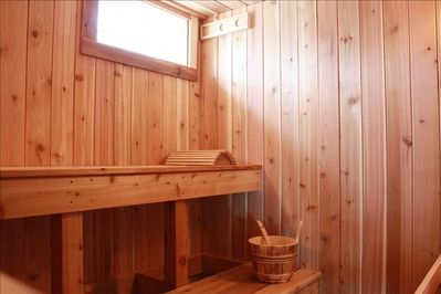 New Sauna in the basement!