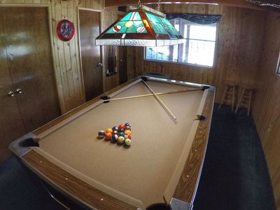 1st level Pool Table Game Room with Huge LCD TV