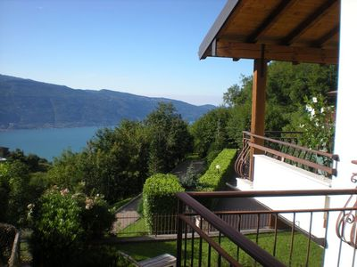 Photo for Beautiful holiday home in Tignale, stunning views of mountains & Lake Garda, balcony & garden