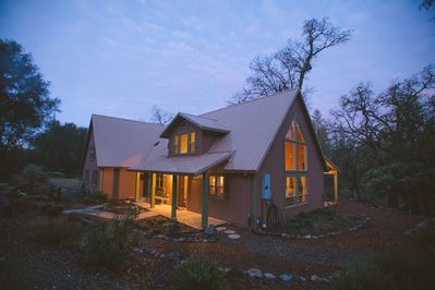 The OakStone House is surrounded by nature, away from neighbors and busy roads.