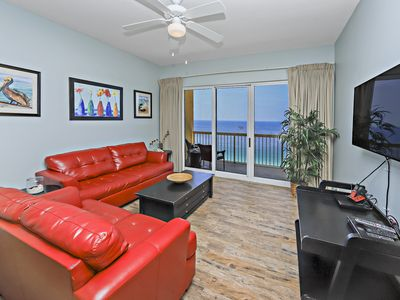 Photo for AMAZING BALCONY VIEWS OF BEACHES! OPEN 9/21-28! WALK TO PIER PARK!