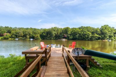 The home's private dock allows direct lake access!