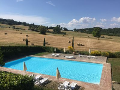 Photo for Farm with swimming pool in the hills of Siena